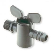 """Кран  20 мм - резьба 1/2""""НР,  для садовых шлангов 3/4"""" и капельных трубок стандарта 20 мм"""