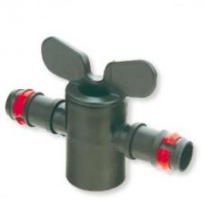 """Кран проходной для капельных трубок стандарта 20 мм или садовых шлангов 3/4"""""""