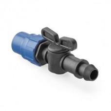 Кран стартовый компрессионный для капельных трубок стандарта 16 мм