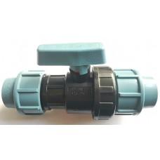 Кран для труб ПНД 25 мм проходной, Santehplast