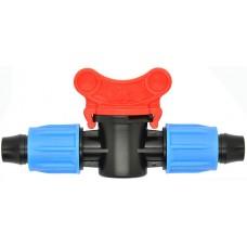 Проходной компрессионный кран для трубок 16 мм