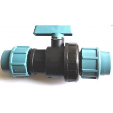 Кран для труб ПНД 32 мм проходной, Santehplast