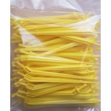 Капельница-колышек 15 см, 1,2 л/ч, жёлтый, упаковка 100 шт.