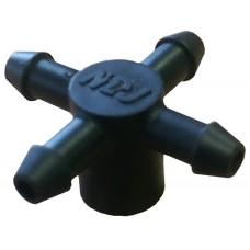 Разветвитель на внешнюю капельницу для микротрубок 5 мм на 4 выхода