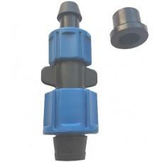 Cтартовый фитинг для капельной ленты c поджимом и уплотнителем