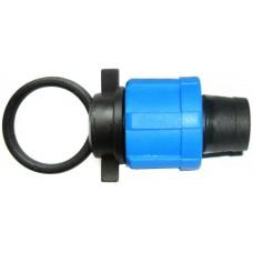 Заглушка-фитинг для капельных лент 16 мм