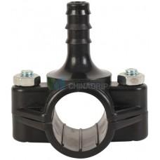 Седёлка для трубы 25 мм, отвод 16 мм