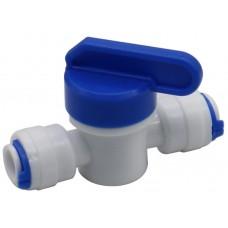 Кран пневматический Dn7 быстросъёмный для микротрубок с нар. диам. 6 мм