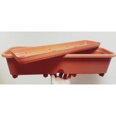 Ящик балконный 60 см с поддоном, с подливом
