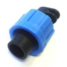 Фитинг-заглушка для капельных лент 16 мм